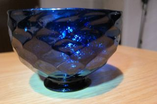 Antik Glas Schale Glass Sugar Bowl English Bristol Blue Brilliant Cobalt Um 1790 Bild