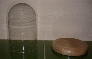 Glasdom Mit Boden,  Eiche,  Glassturz,  Uhrensturz,  Tischuhr,  Standuhr,  Uhren, Bild