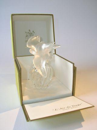 """Flakon Von Lalique Für Nina Ricci """"l'air Du Temps"""".  Kristall Mit Zwei Tauben Bild"""