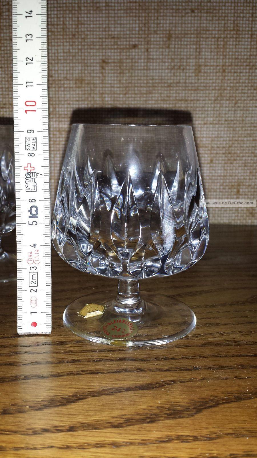 6 kleine cognac gl ser patrizia nachtmann 24 bleikristall bavaria germany. Black Bedroom Furniture Sets. Home Design Ideas