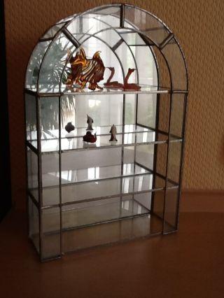 Exclusive Sammler Vitrine Kristallglas Mit Bleiverglasung 29 Cm X 19 Cm Rarität Bild