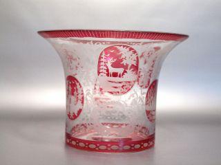 Biedermeier Große Glas Vase Böhmen Um 1850/ 1860 Bild