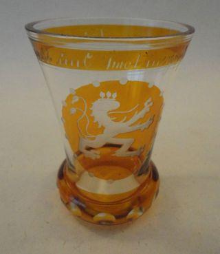Deutsches Wappenglas Ranftbecher Ranftglas Ns - Glaskunst Böhmen Whw 1938 Sammler Bild