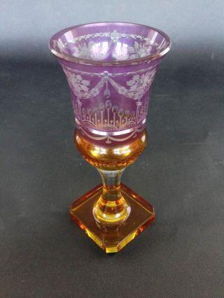 Biedermeier - Andenkenglas Qualitätvoll Besschliffen Um 1840 Bild