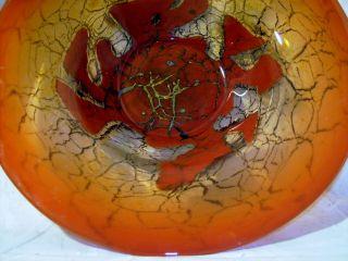 Xxl Glas Schale Wmf Ikora Geislingen,  38cm D,  2,  5kg,  1920/30,  Tolle Farbe,  Vase Bild