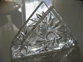 Kristallglas Serviettenhalter Floraler Zierschliff Bild