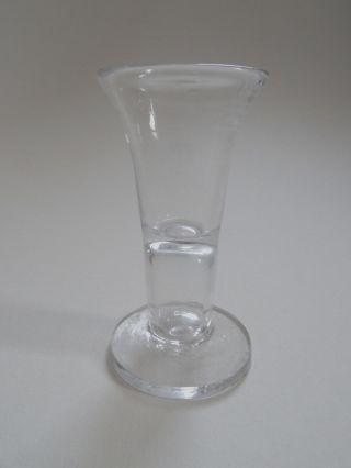 Seltenes Kutscherglas Stumpen Branntweinglas Norddeutsch Um 1790 Mundgeblasen Bild