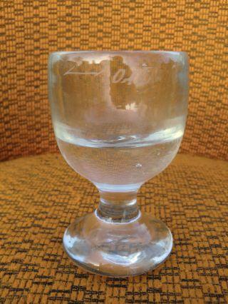 Altes Biedermeier Abrissglas Trinkglas Fußbecher ? Geeicht 0,  1 Liter Bild