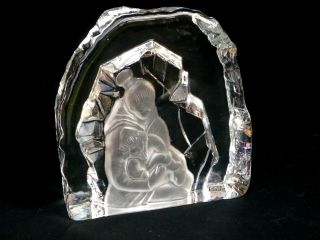 Eskimo Inuit Skulptur 2770g Gemarkt Sea Kosta Sweden Jul Weihnachten Schweden Bild