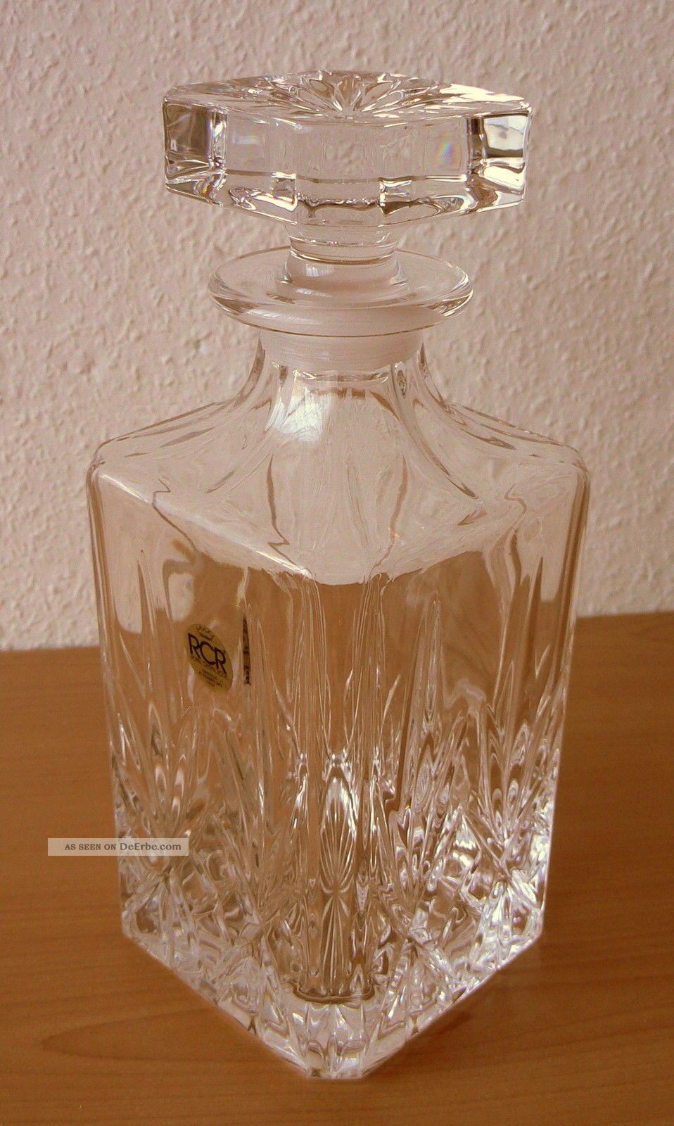 whisky karaffe rcr bleikristall made in italy ca 0 7 liter neuwertig. Black Bedroom Furniture Sets. Home Design Ideas