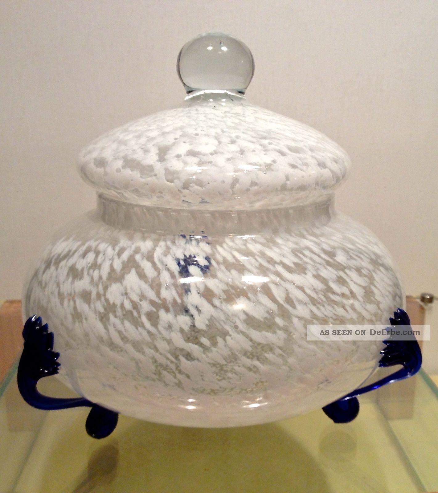 murano glasschale mit deckel gristalma lavarato a mano. Black Bedroom Furniture Sets. Home Design Ideas