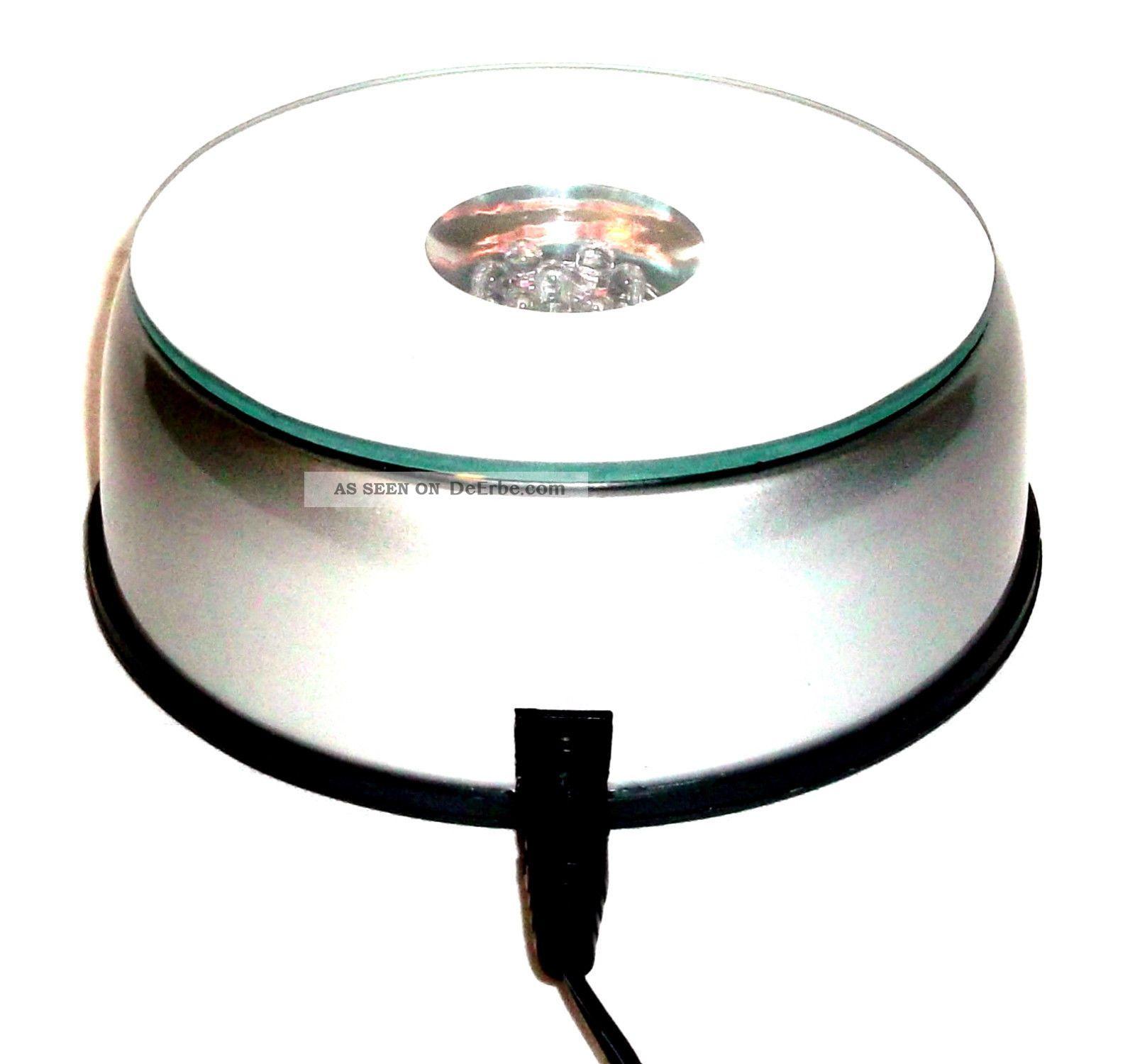 7 led leuchte sockel untersetzer drehteller deko aufsteller pokale vase 10cm 90. Black Bedroom Furniture Sets. Home Design Ideas