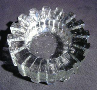 Schwerer Wmf Aschenbecher Aus Bleikristall,  70er Jahre,  Ø 14cm,  Ovp Bild