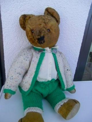 Lieber Alter TeddybÄr 45 Cm Bär Teddy Ca.  60 Jahre Alt Bild