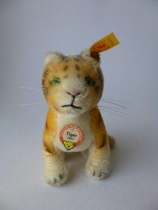 Steiff Tiger 1951 Historische Miniatur 031007 Kfs Unbespielt Bild