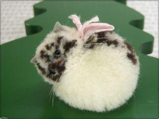 Alte Kleine Runde Steiff Miniature Katze Old Woolen Cat Pompom 7292/04 Mietze Bild