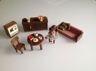 Puppenstuben & -häuser 4 Parfüm Flakons, 1 Kerze, für Kaufladen Puppenhaus Dame 7