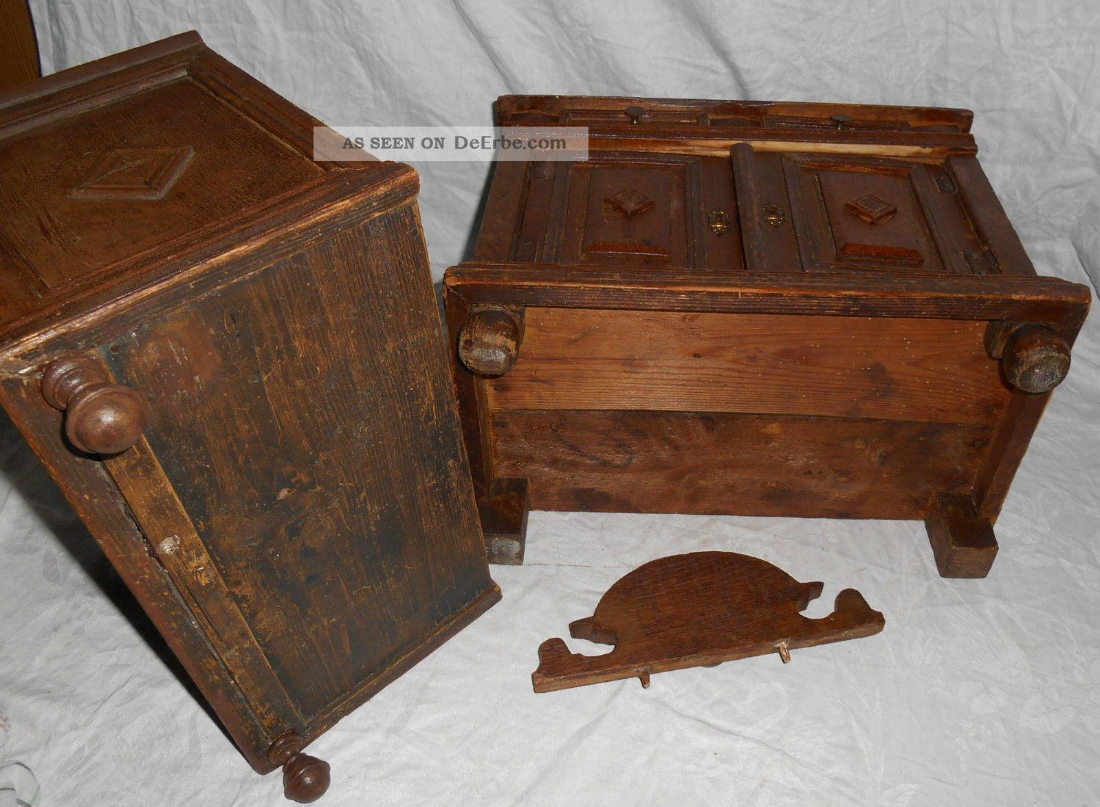 antiker kinder k 220 chenschrank um 1890 gr 220 nderzeit. Black Bedroom Furniture Sets. Home Design Ideas