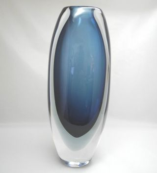 Kosta Schweden Vase Oval Blau Bild