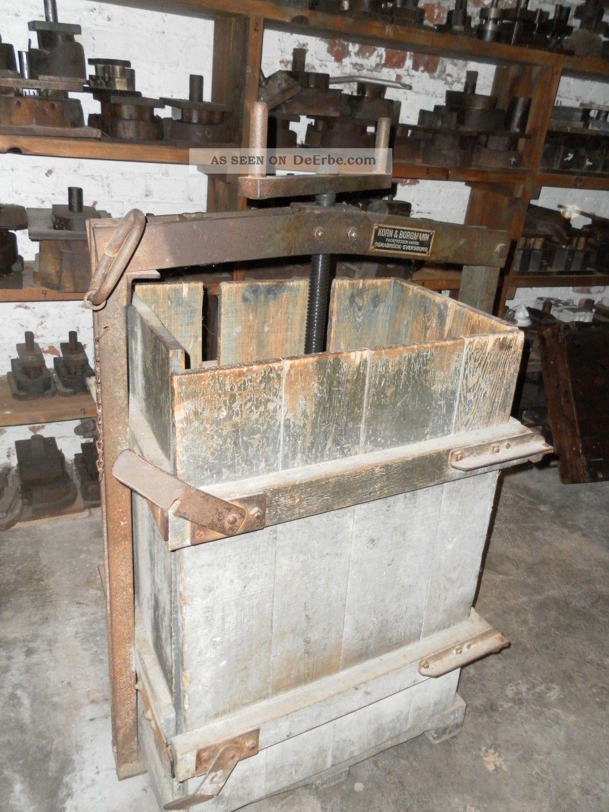 Antike papierpresse spindelpresse ballenpresse korn und for Beistelltisch 1m hoch