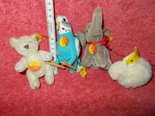 4 X Steiff - Teddy.  Hase,  Jumbo,  Franzi - Bild
