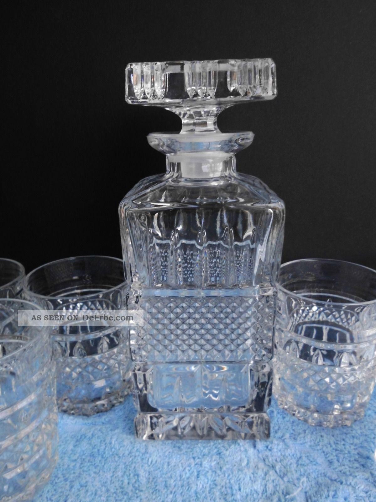 glas kristall bleikristall karaffe whiskykaraffe whisky glas gl ser whiskyglas. Black Bedroom Furniture Sets. Home Design Ideas