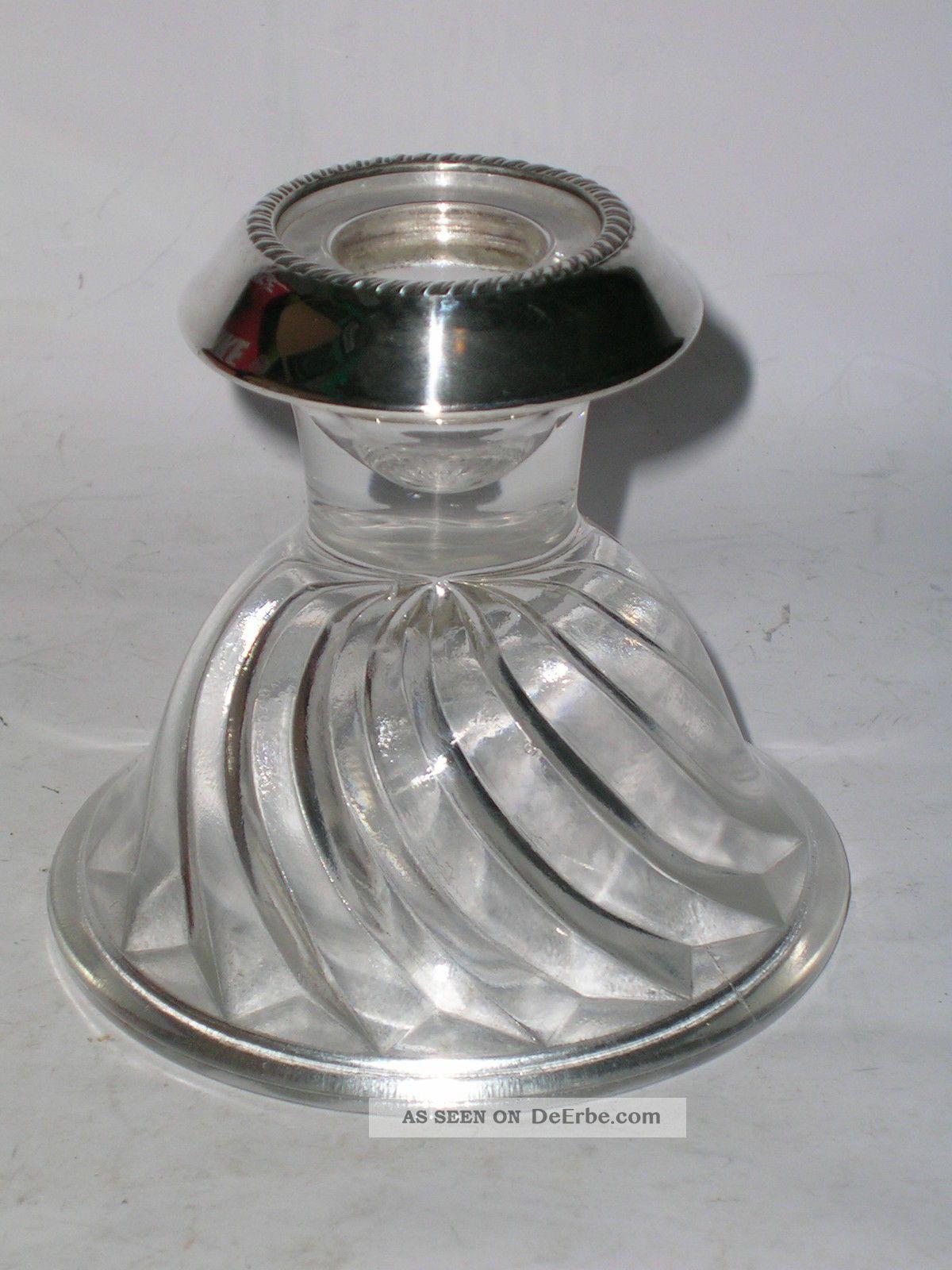 1965 Kristallleuchter Mit Silberrand Saben Glass Co.  Usa Kristall Bild