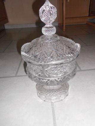 Kristallglas Schale Mit Deckel Bonboniere Bild