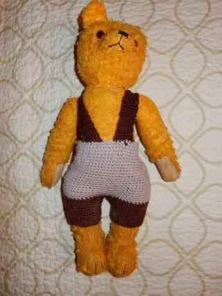Schöner Alter Teddybär - Brummbär/bespielter Zustand/40cm Bild