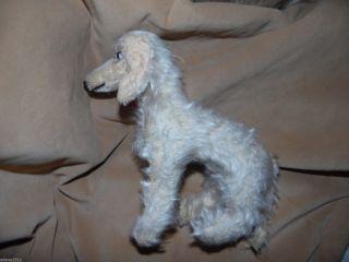 Seltener Alter Hund Mit Holzwolle,  Fellverlust,  18cm Groß,  Altes Stofftier Bild