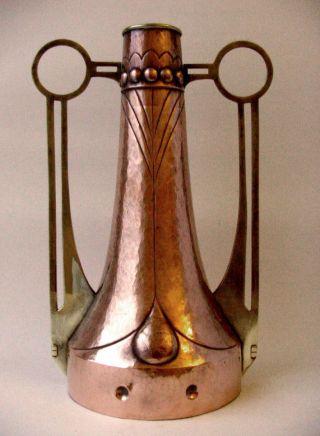 Große Vase Jugendstil Art Deco Messing Kupfer Kurios Selten Wmf ? Bild