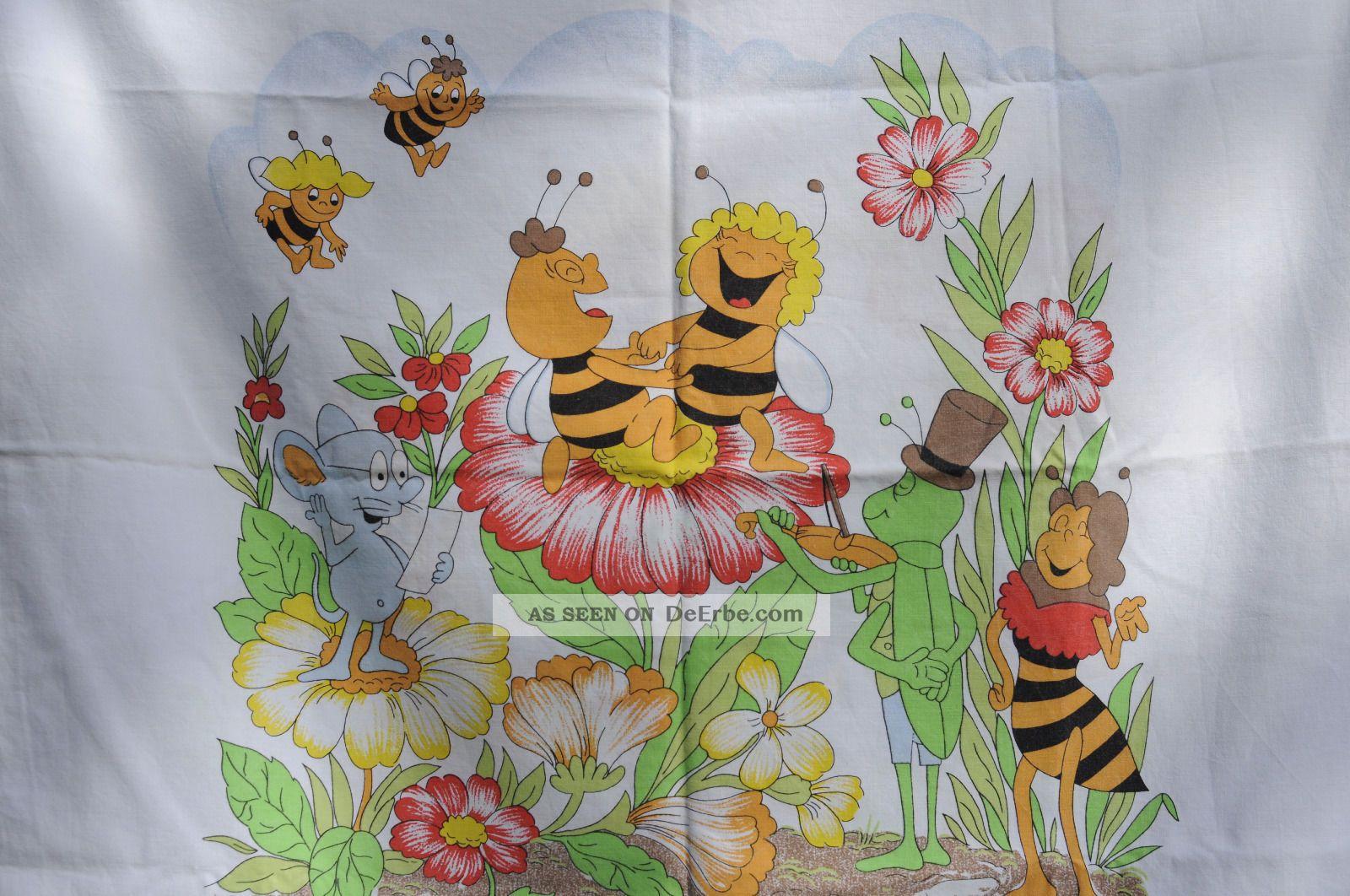 Biene Maja Bettwäsche Kissenbezug Stoff Textilien 70er 80er Jahre