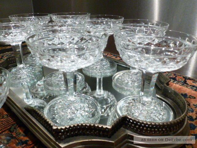 10 kristall baccarat champagner gl ser ca 1840 rare rar. Black Bedroom Furniture Sets. Home Design Ideas