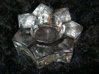 Bleikristall Teelichthalter Stern Schwer Top Weihnachten Sammler Glas Db Fund Bild