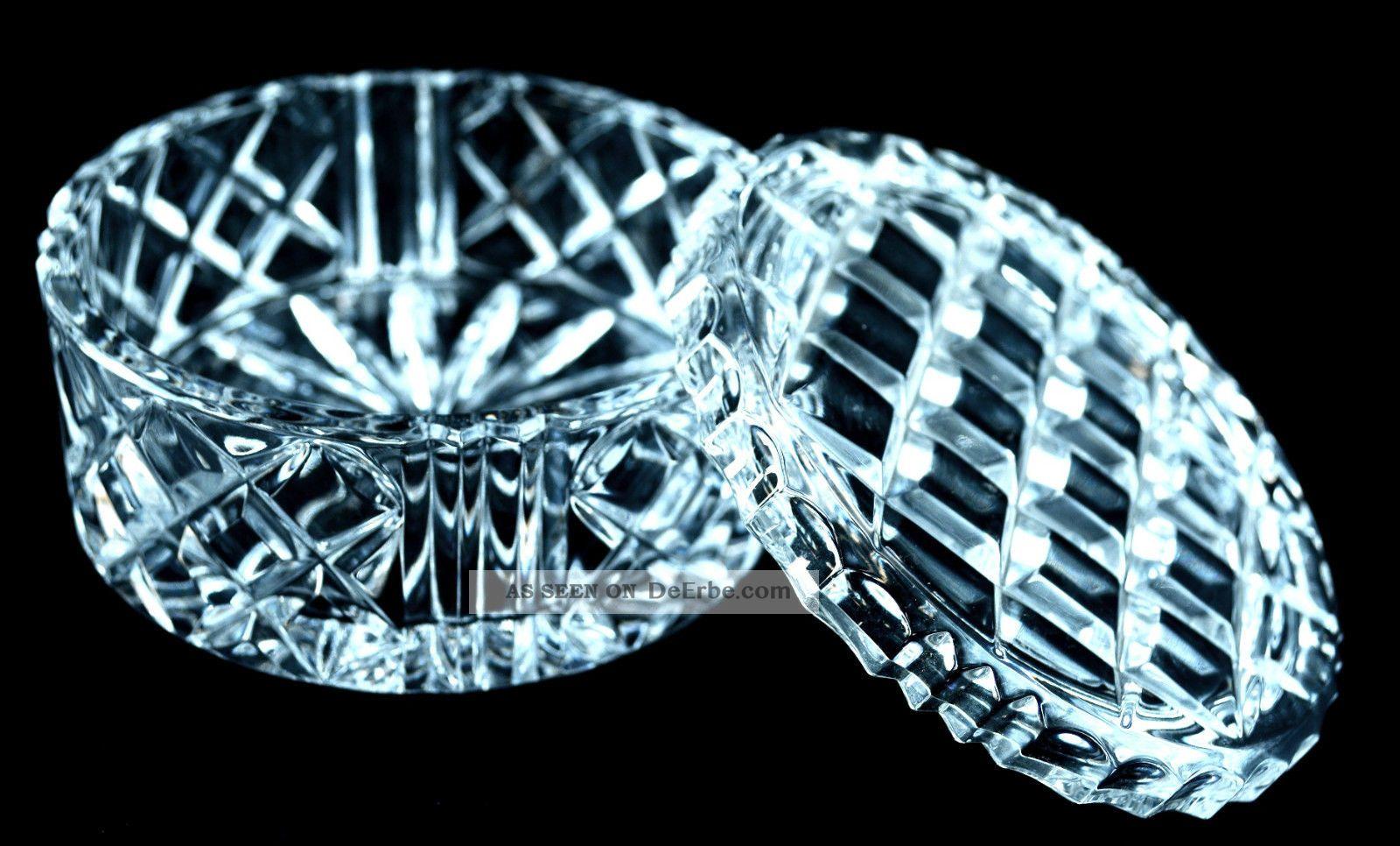 nachtmann bleikristall runde dose dekorative kristallschale mit deckel 24. Black Bedroom Furniture Sets. Home Design Ideas