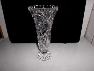 Kristallglas - Alte Blumenvase. Bild