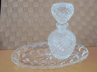Bleikristall Glasplatte Glasschale Incl.  Bleikristall - Karaffe Schwere Ausführung Bild
