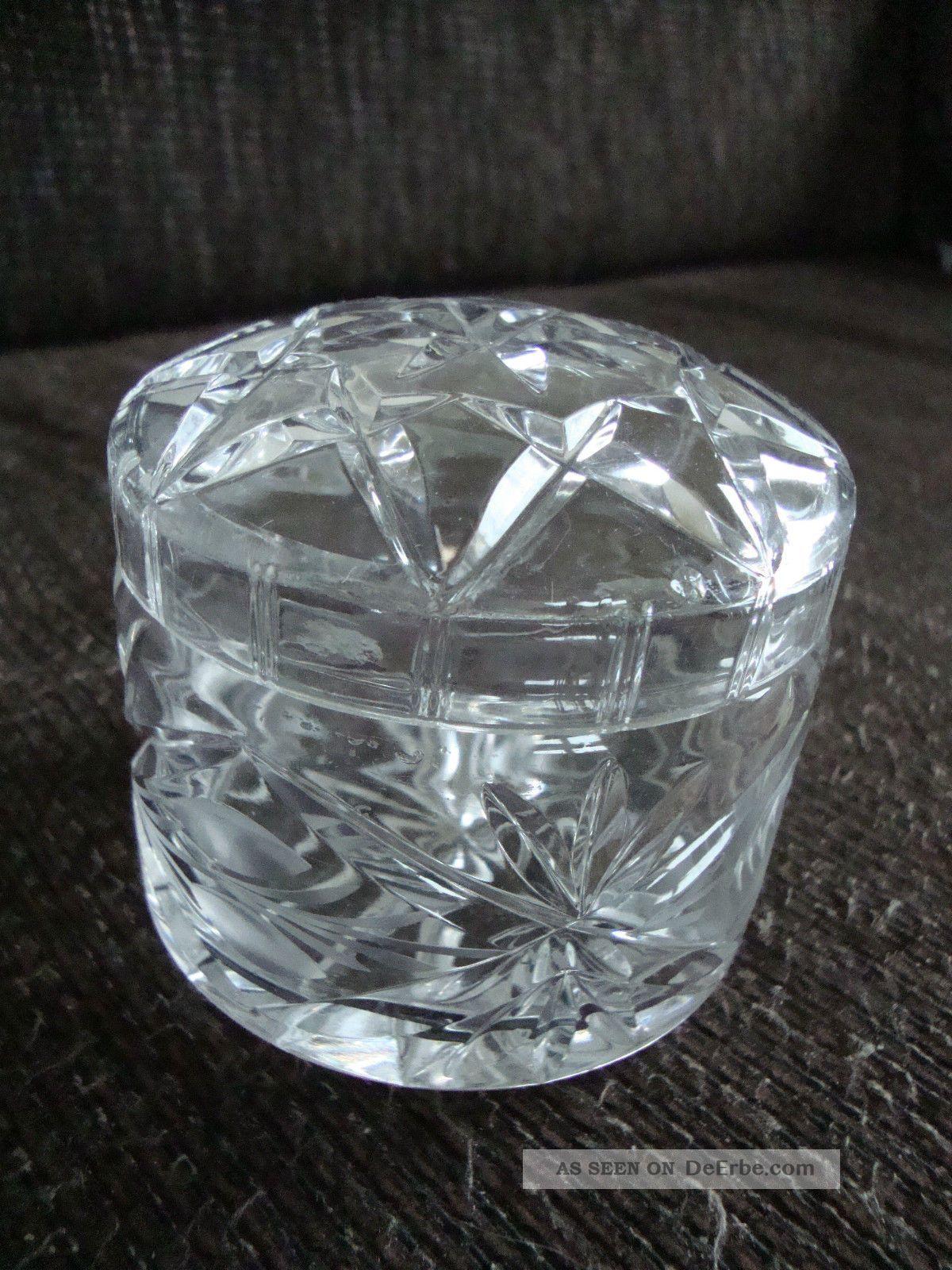 schwere bleikristall zuckerdose schleuderstern muster kristall glas kunst art. Black Bedroom Furniture Sets. Home Design Ideas