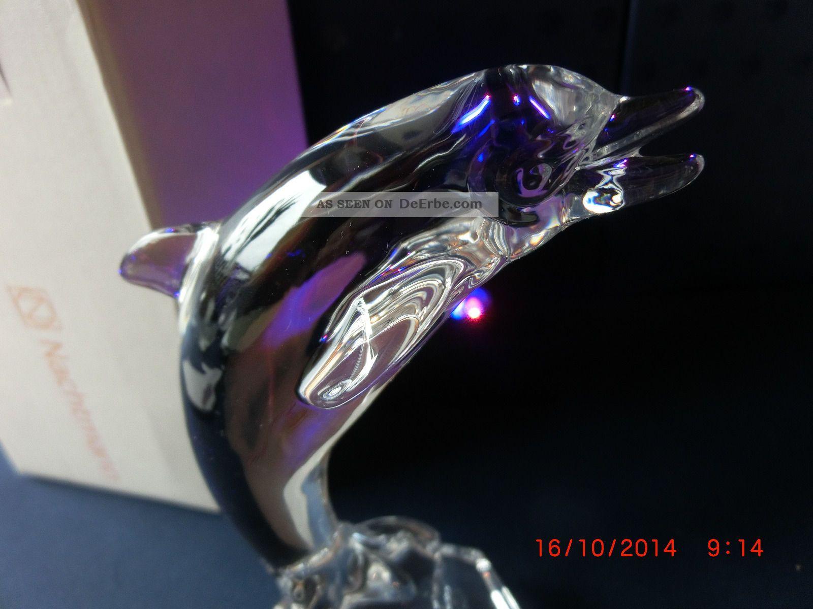 glas glasfigur figur nachtmann delfin massiv mit led. Black Bedroom Furniture Sets. Home Design Ideas