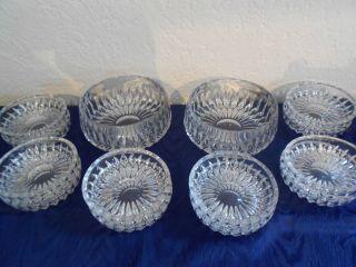 2 X SchÜssel Schalen SalatschÜssel 12 X Desserteller Glas Bleikristall Nachtmann Bild