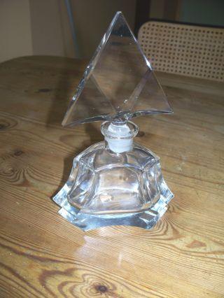 Schöner Alter Kristall Glas Flakon Art Deko Parfeum 496 G Bild