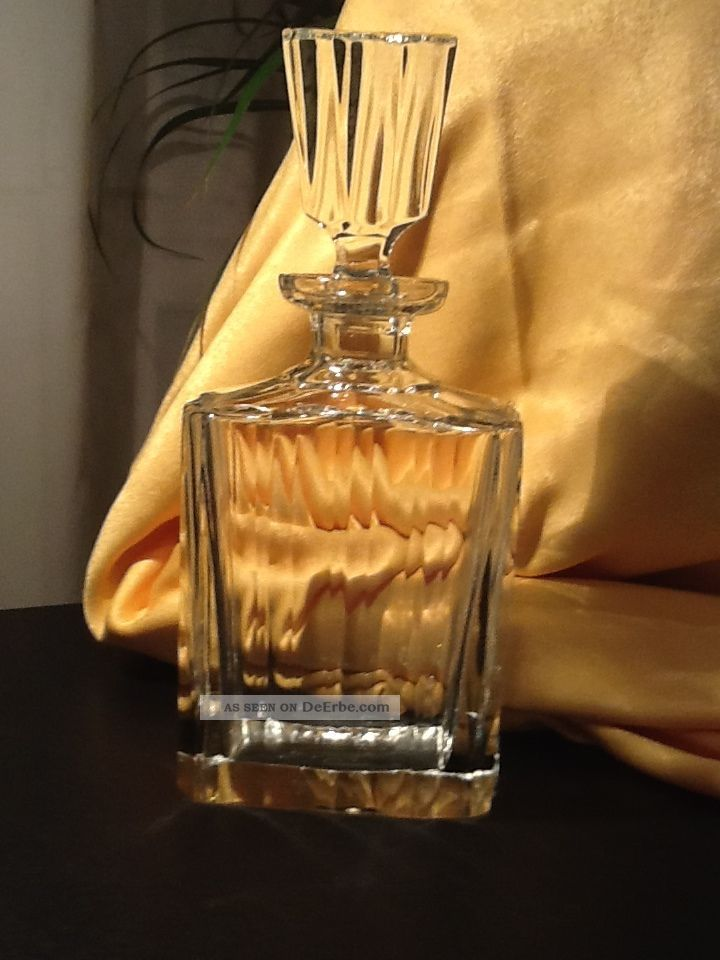 nachtmann bleikristall whisky karaffe 27cm hoch eckig 11 5 x 7 00 cm schwer. Black Bedroom Furniture Sets. Home Design Ideas