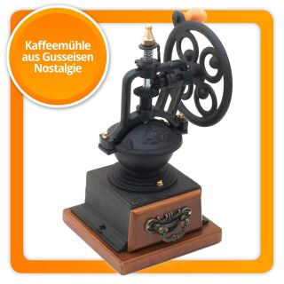 Antik Design Kaffeemühle Nostalgie Kaffee Mühle Aus Guseisen Mit Kurbel Bild