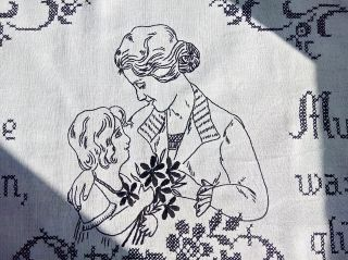 Jugendstil Wandbehang Mit Muter Und Kind Motiv Und Spruch - Landhausstil Bild