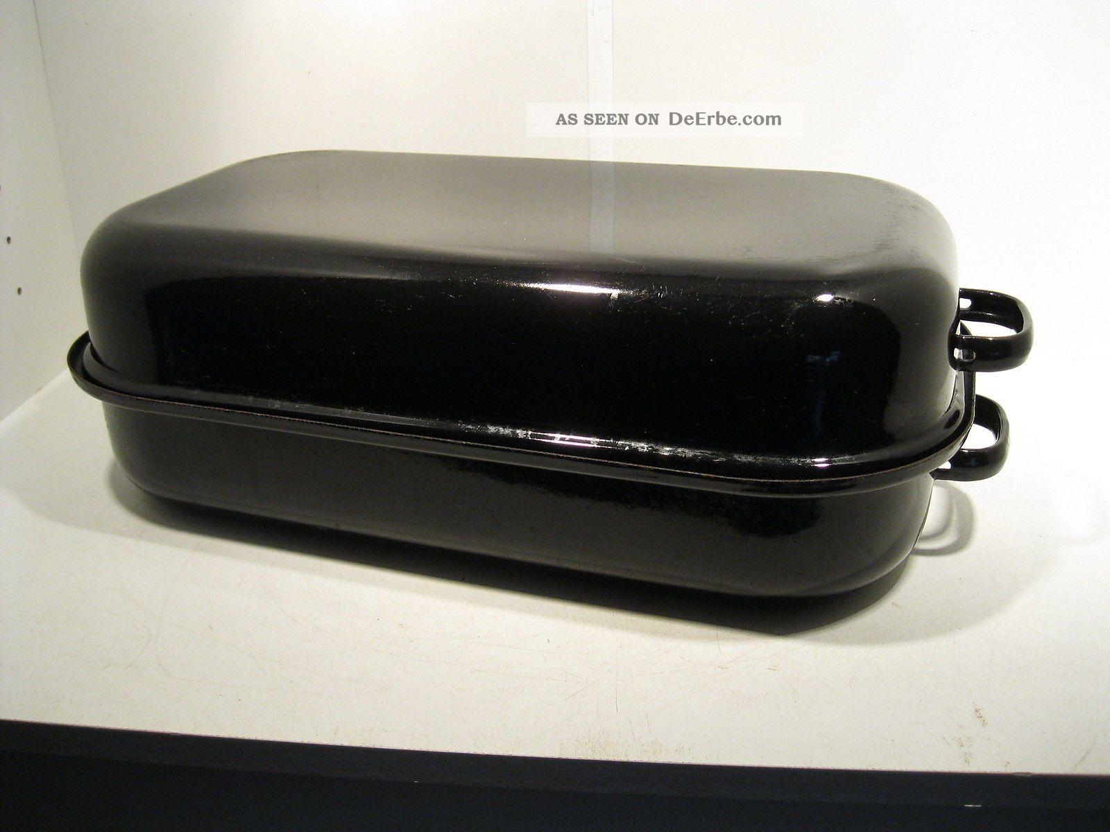 l nglicher br ter kochtopf emaille 47cm lang shabby stil. Black Bedroom Furniture Sets. Home Design Ideas
