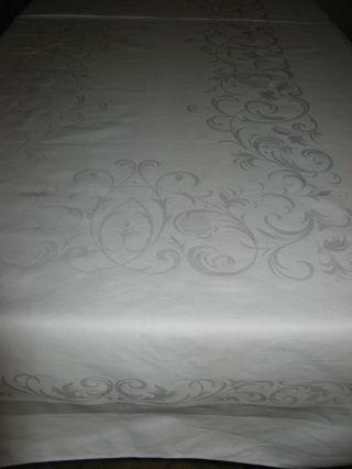 Schöne Tischdecke - Tischtuch - Tafeltuch - Damast - Ornamente - Ca.  103x213cm Bild