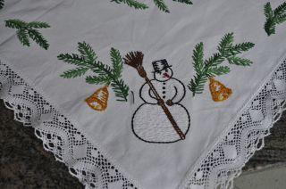 Mitteldecke Tischdecke Handarbeit Weihnachten Traum Top Bild