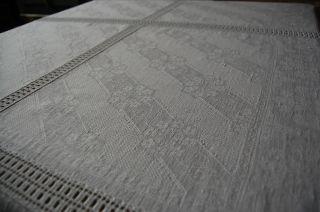 Handarbeit Häkeldecke 170 X 115 Mit 6 Feldern Aus Antiken Geometrischen Leinen Bild