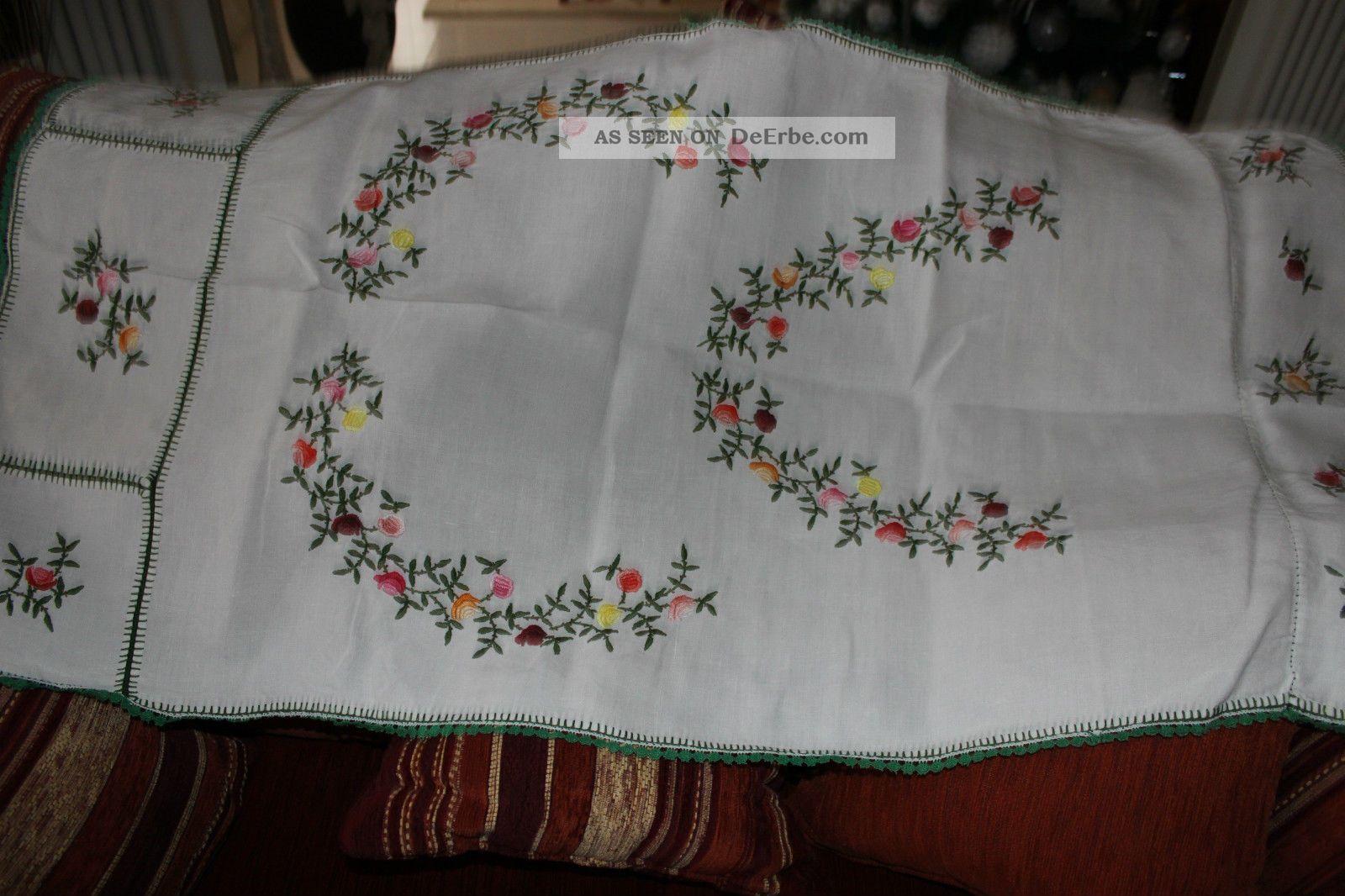 , Weihnach Idee,  Antik Leinen Tischdecke,  Blumen Stickerei Tischdecken Bild