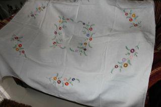 , Weihnach Idee,  Antik Leinen Tischdecke,  Blumen Stickerei Bild